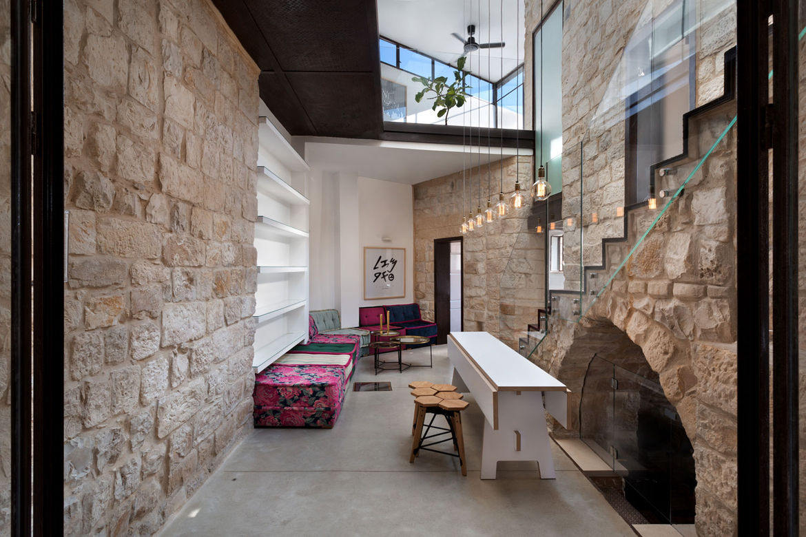 Courtyard in a renovated home in northern Israel