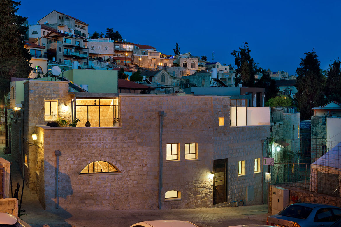 Exterior of a renovated stone home in northern Israel