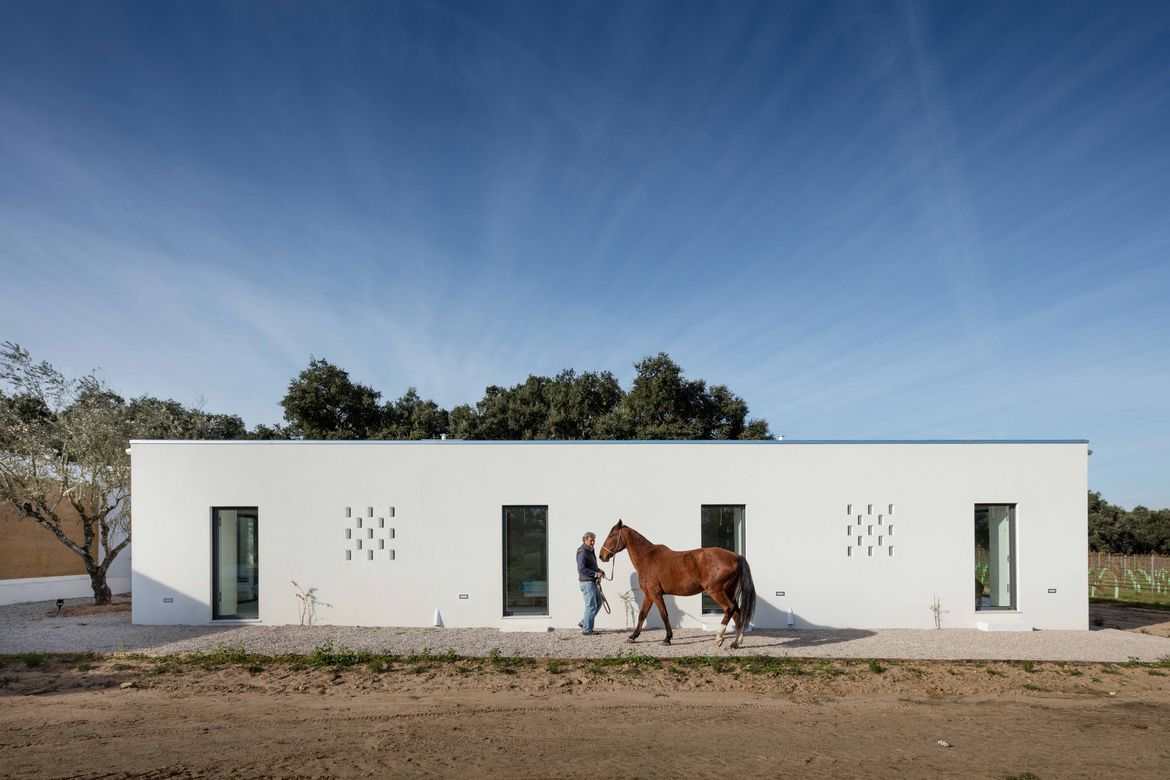 Rammed-earth home in rural Portugal
