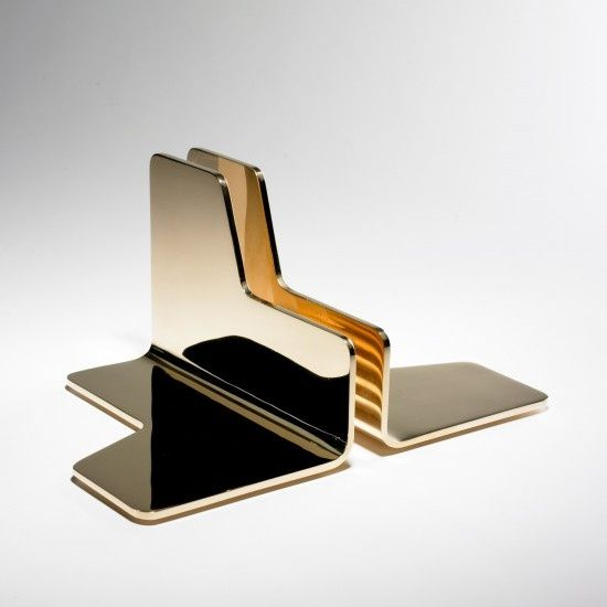 Stainless steel bookends by Jonathan Nesci