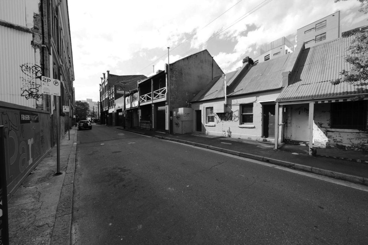 Kensington Street in Sydney Australia before its renovation