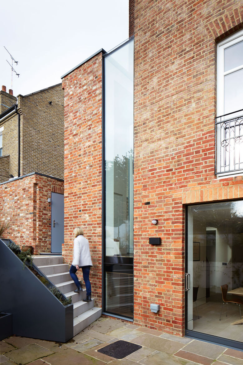Modern brick addition in London
