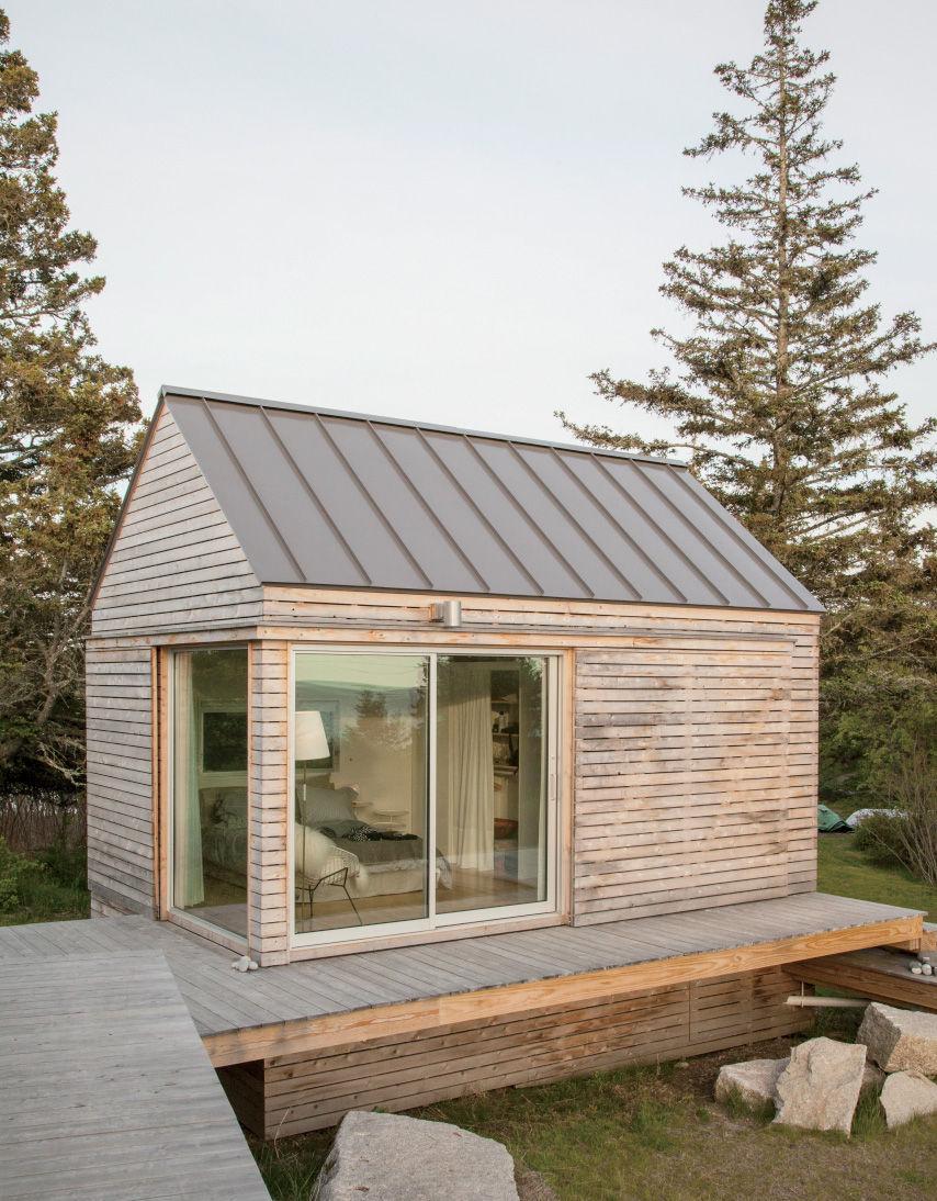 Vinalhaven middle cabin exterior.