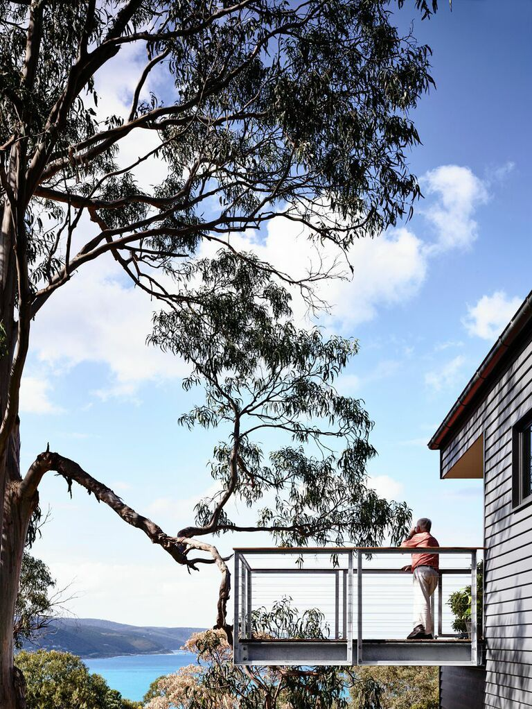 Cantilevered deck with a view in Australia