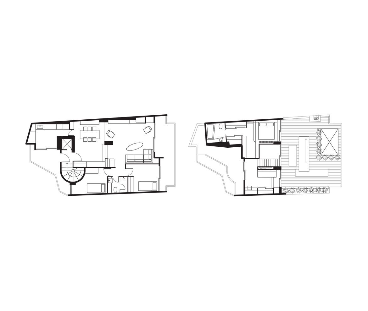 modern lycabettus penthouse apartment floor plan
