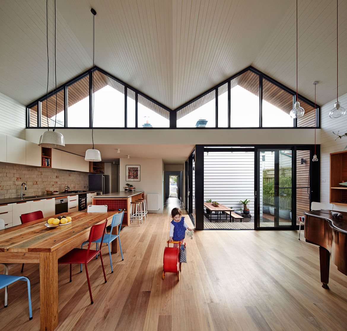 M House roof shape from the interior, Melbourne