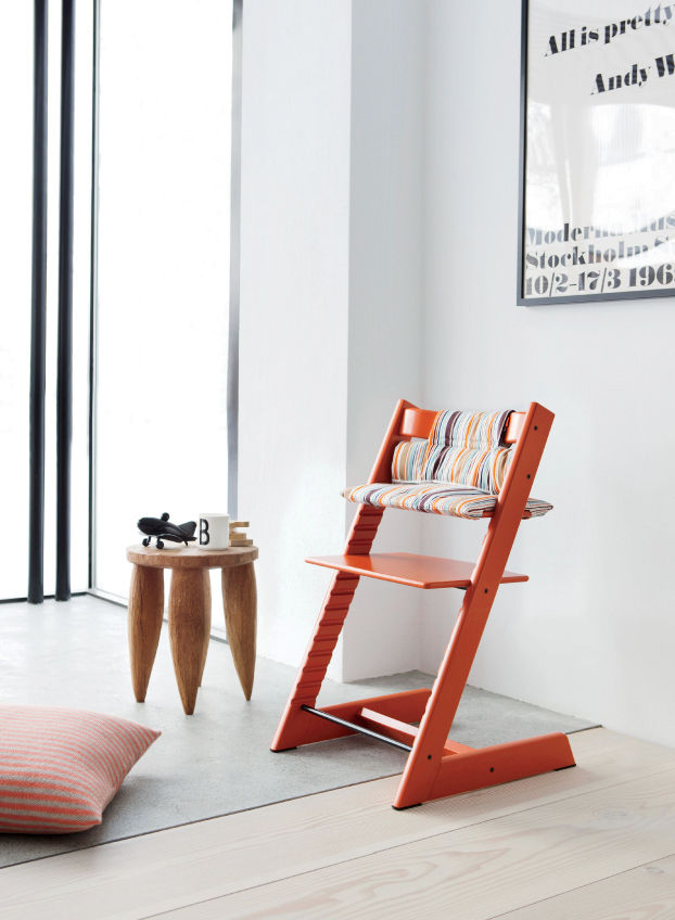 The colorful Tripp Trapp chair by Peter Opsvik