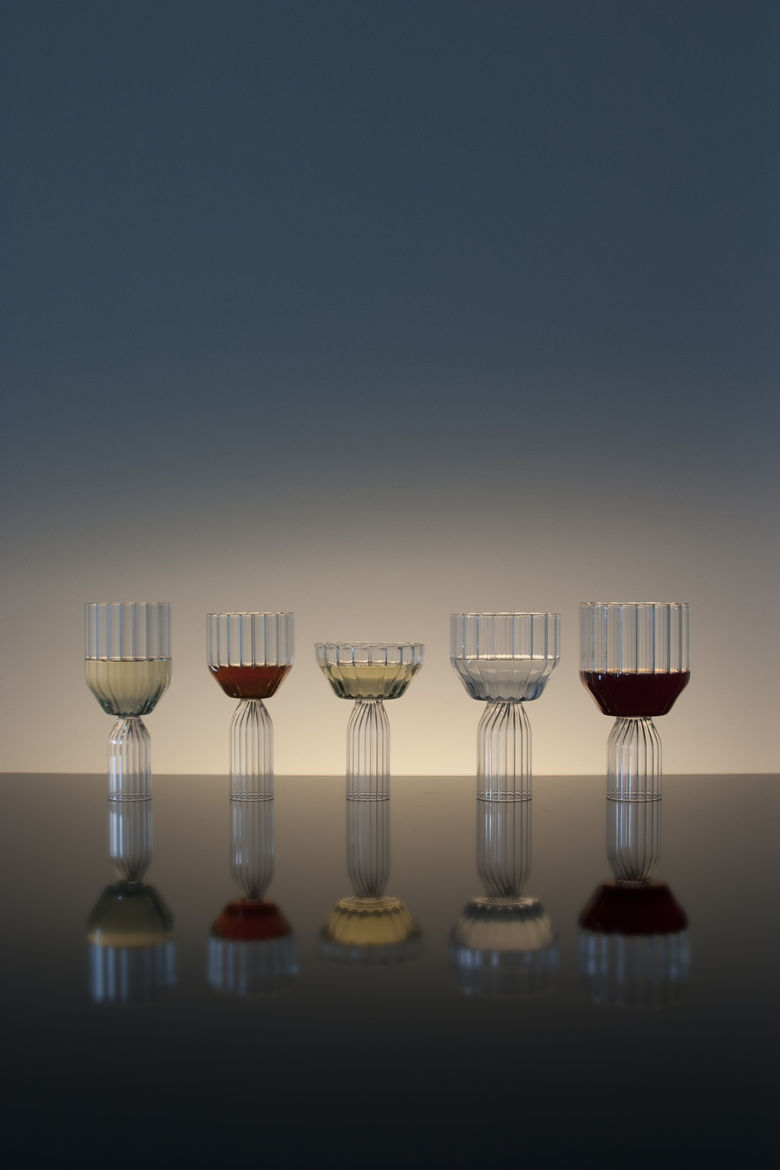 Sculptural glassware collection