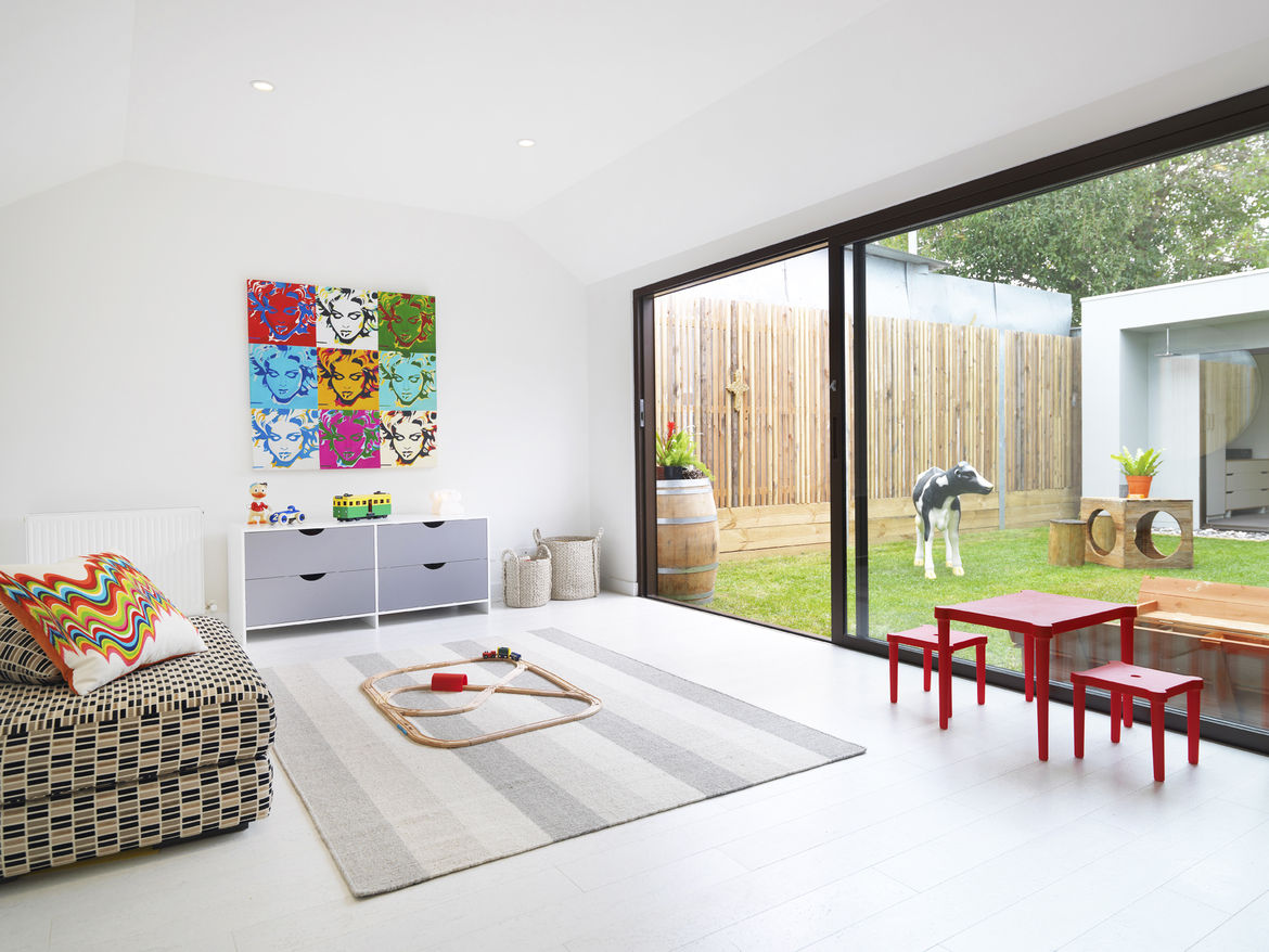 Playroom in a renovated 1850s prefab cottage in Melbourne