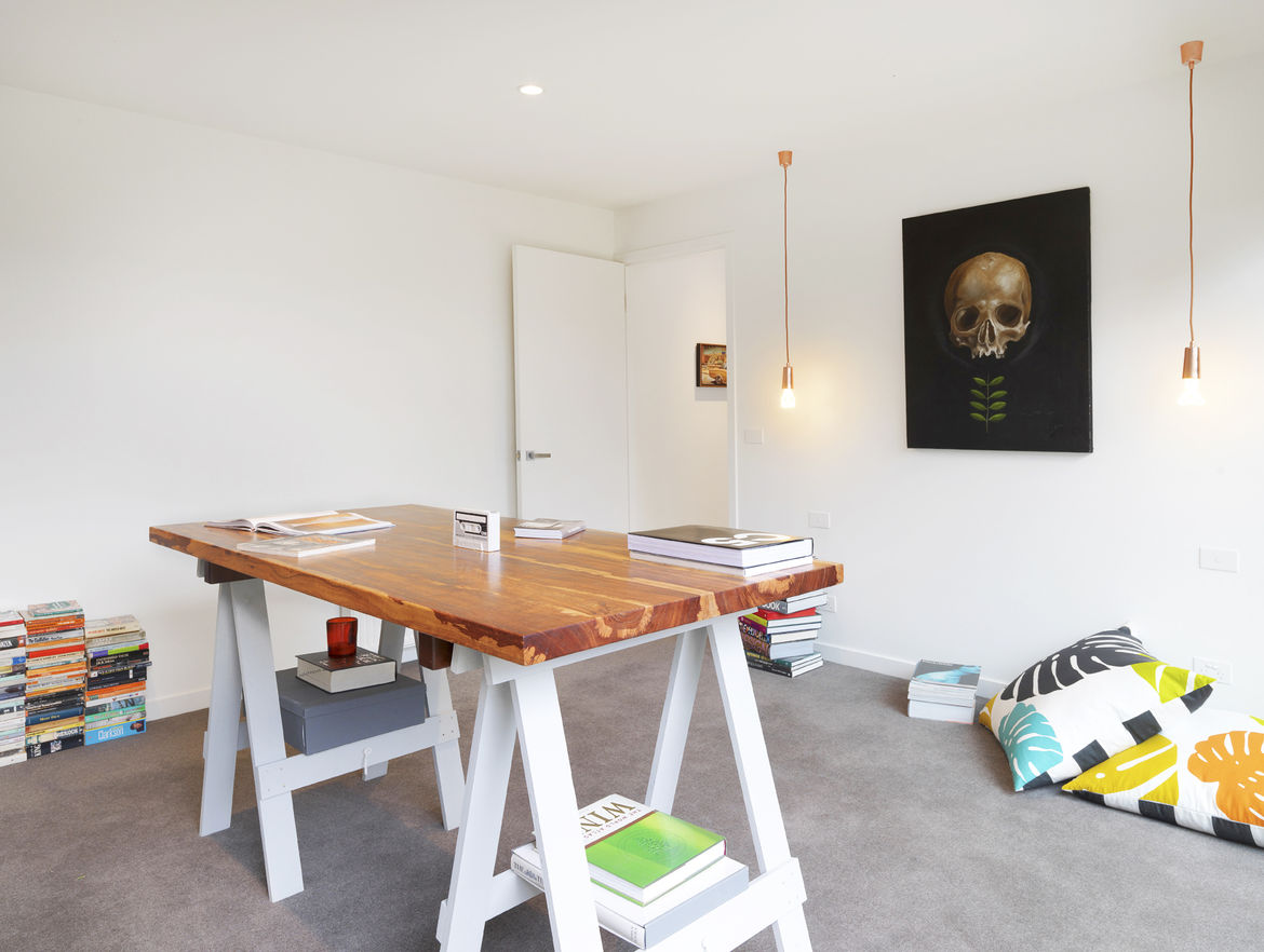 Study in a renovated 1850s prefab cottage in Melbourne