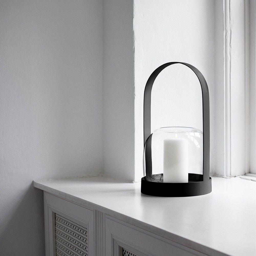 Powder-coated candle lantern