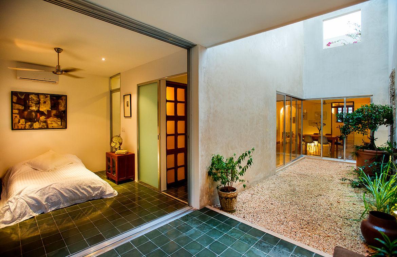 Indoor-outdoor bedroom in Mexico