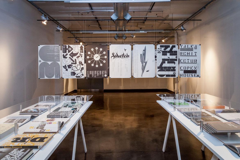 Michael Bierut SVA Exhibition Architecture Books and Yale Architecture Posters
