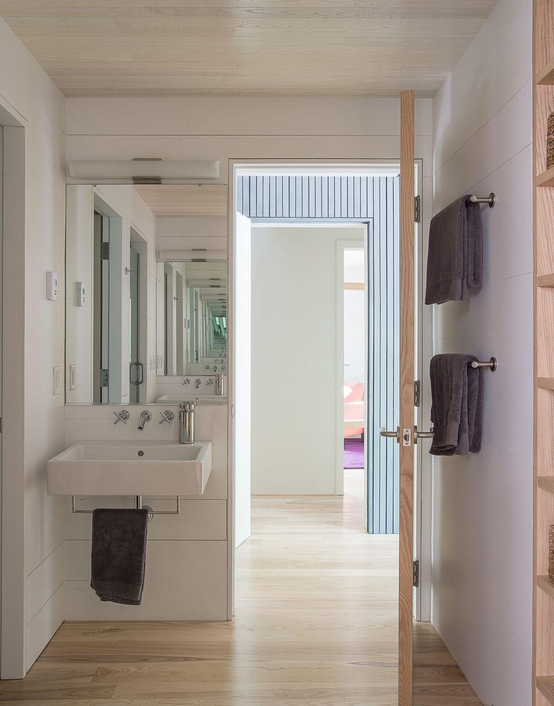 First-floor bathroom with fixtures from Kohler