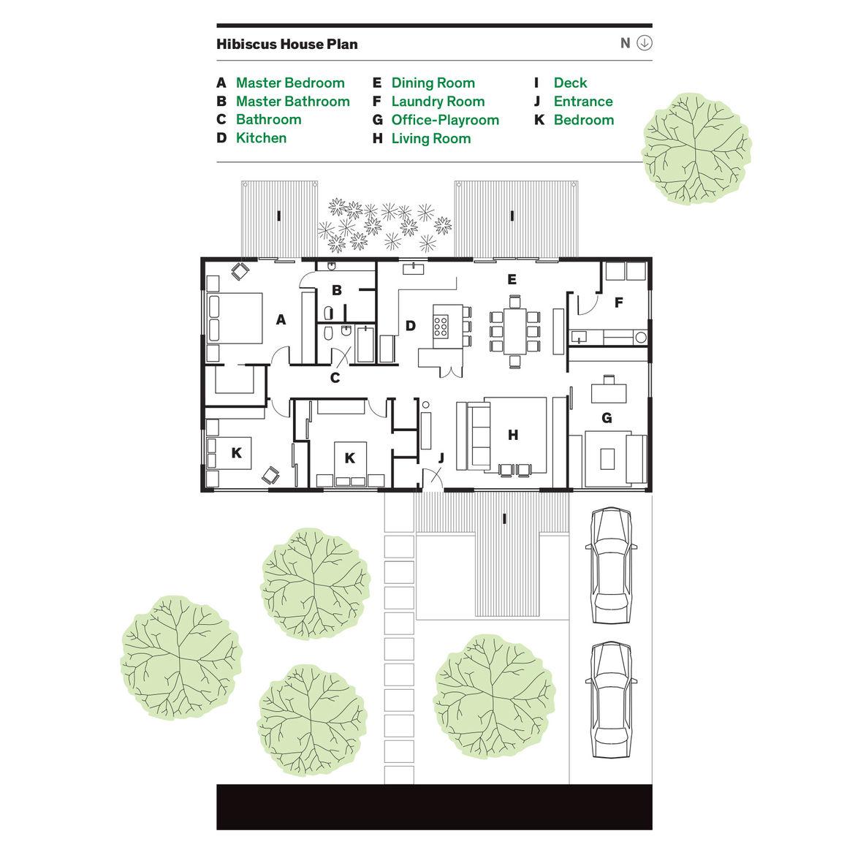 Floor plan of the Hibiscus House by López Resendez Studio