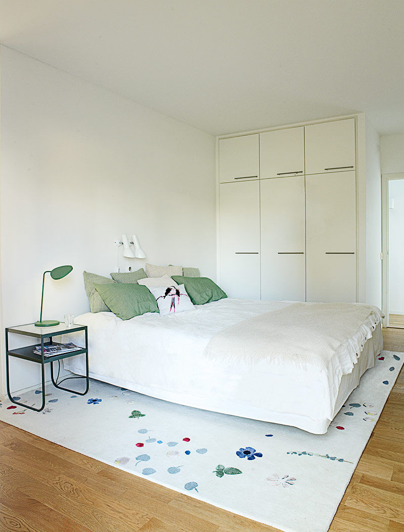 Swedish Prefab Home, Master Bedroom