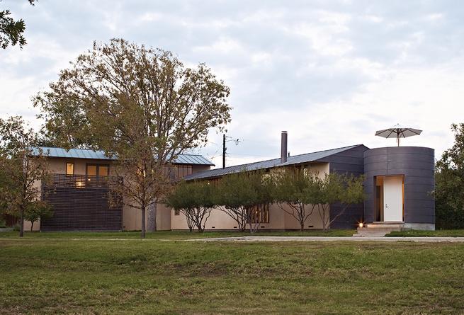 modern vanguard way facade stucco metal clad ipe