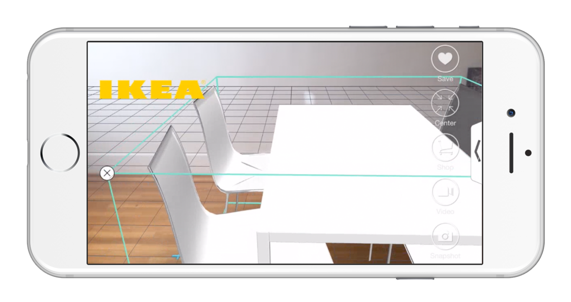 Interior design augmented reality app Pair on iPhone.