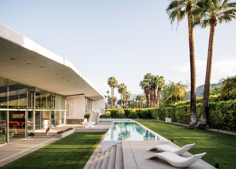 Desert Canopy House lap pool