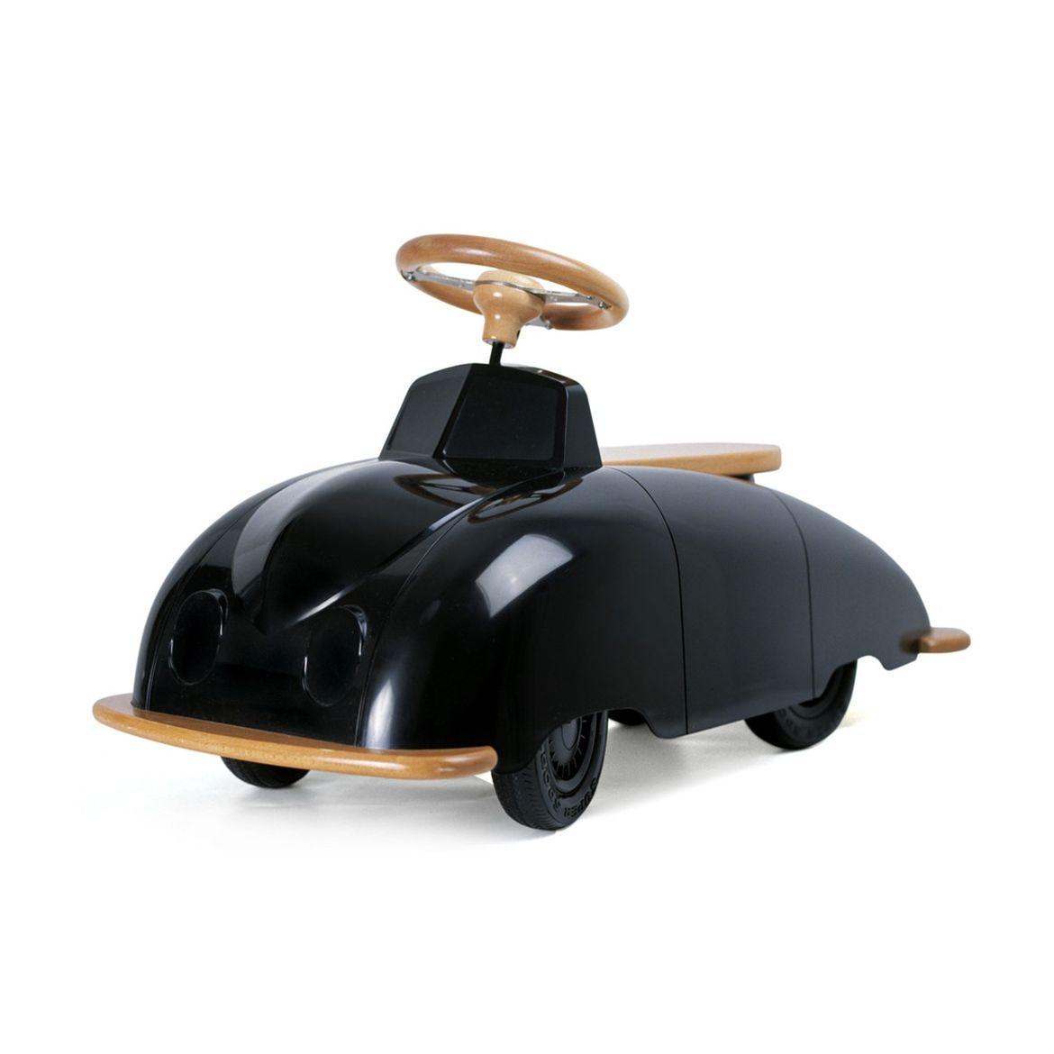 Kids ride-on car with glossy lacquer finish
