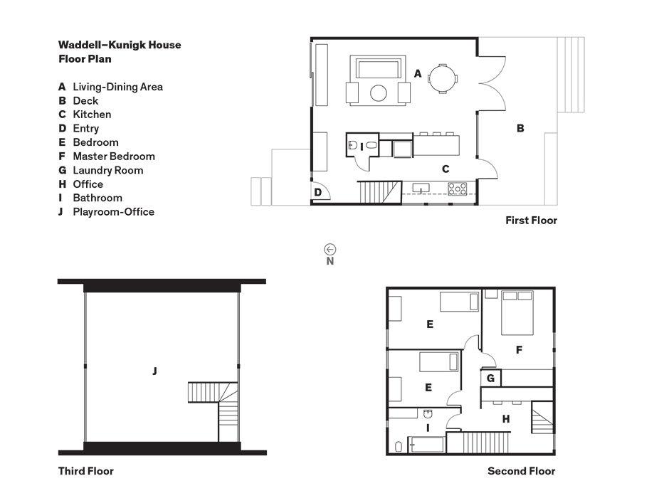 Waddell–Kunigk House Floor Plan