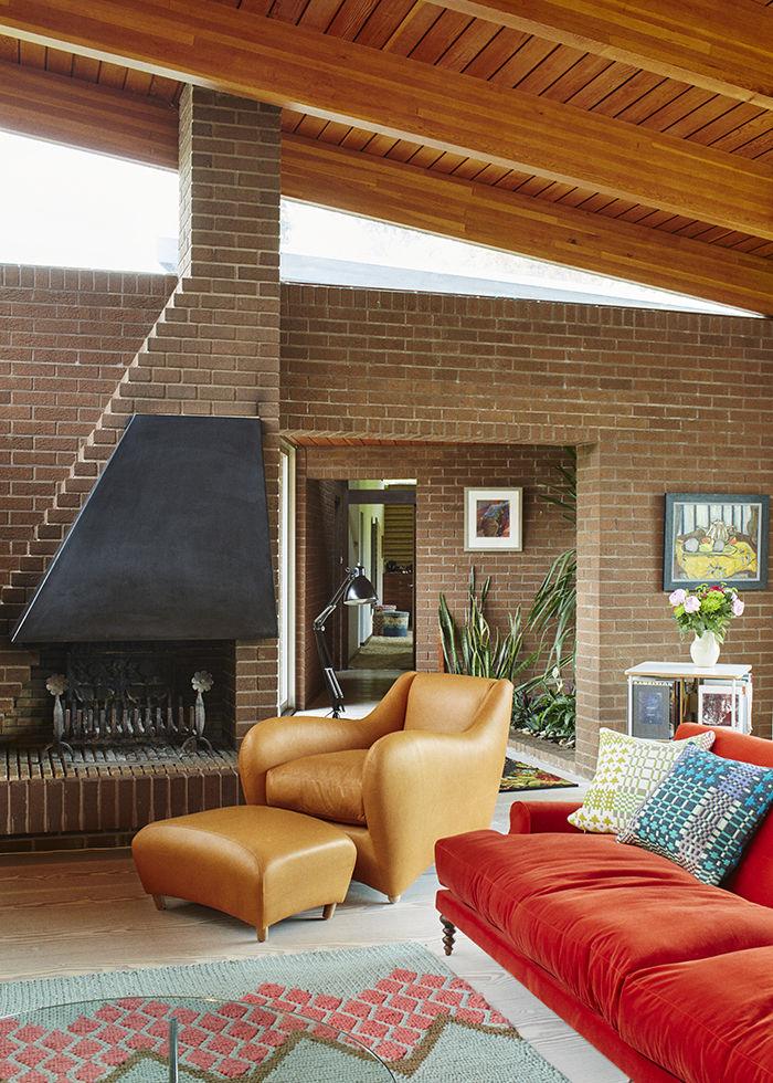 The Balzac armchair designed by Matthew Hilton in an English home