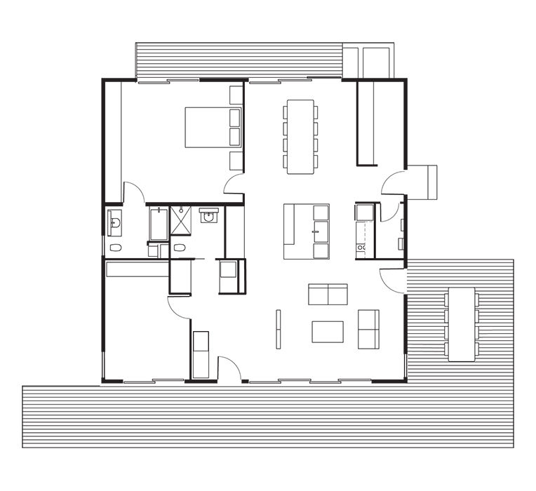 modern design prefab floor plan