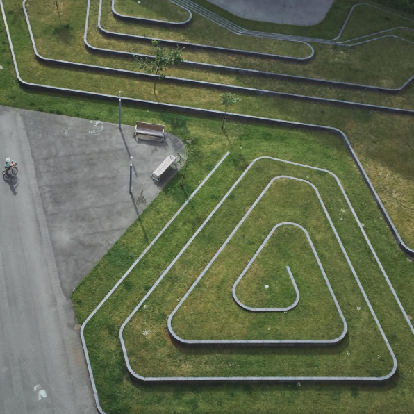 Landscape labyrinth in Copenhagen