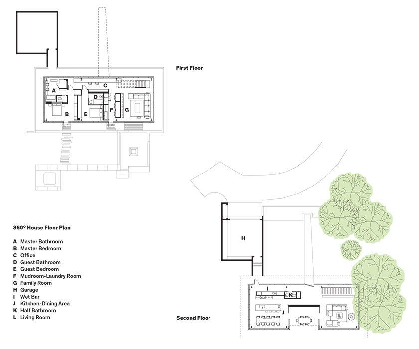 Cannon Beach home floor plans