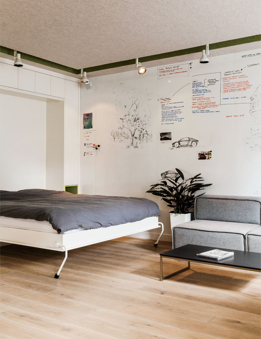 Warsaw apartment Murphy bed