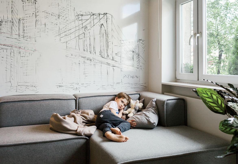 Warsaw apartment modular Carmo sofa by BoConcept