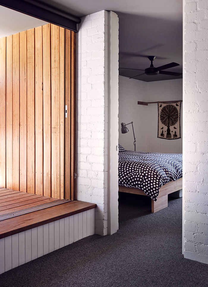 Master bedroom in an Australian vacation home
