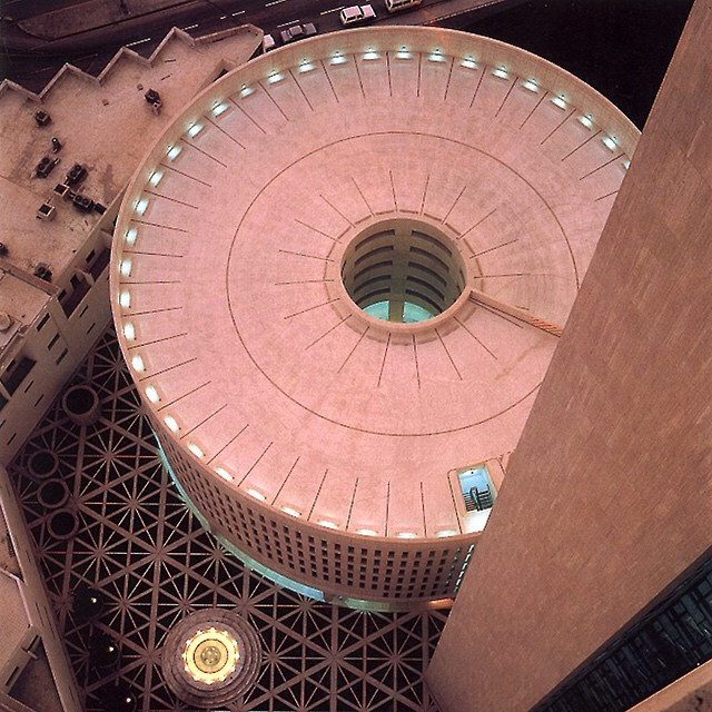 National Commercial Bank (completed 1983) by Skidmore, Owings, Merrill in Jeddah, Saudi Arabia