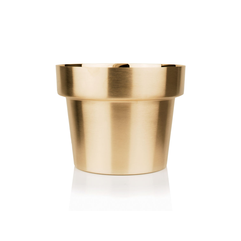 Skultuna Brushed Brass Flower Pot