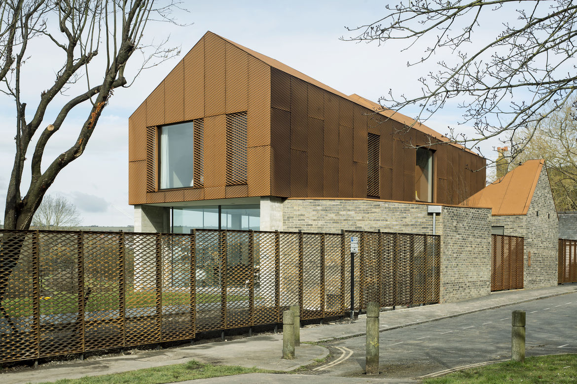 House in England with Cor-Ten steel and local ash brickwork