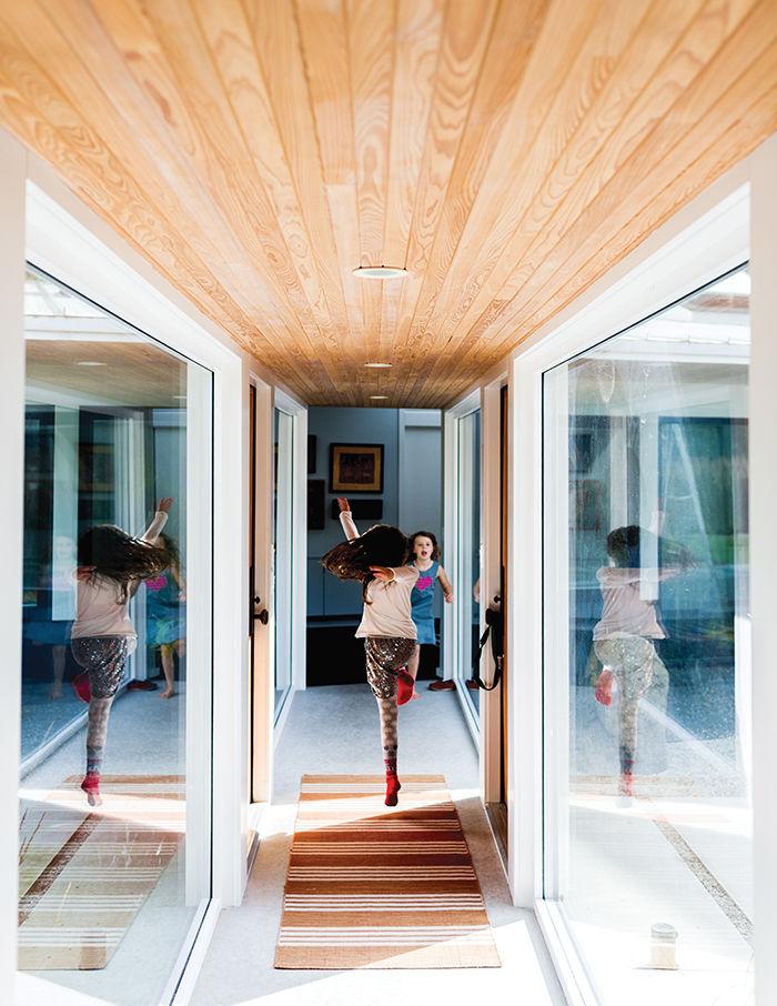 modern sturgeon bay julie brogan wisconsin basswood slats corridor