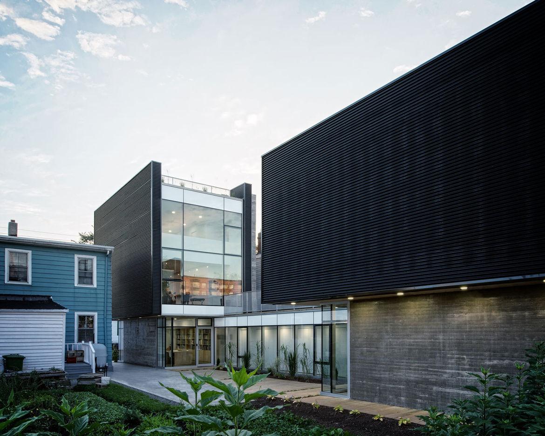 Modern three-story live/work home