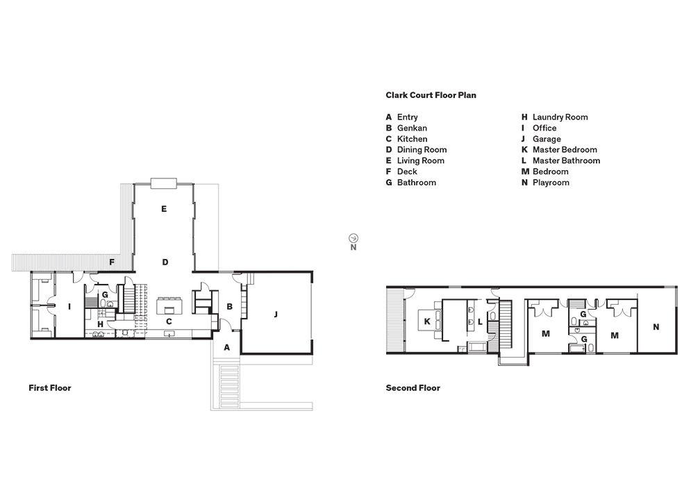 Modern home in North Carolina floor plans