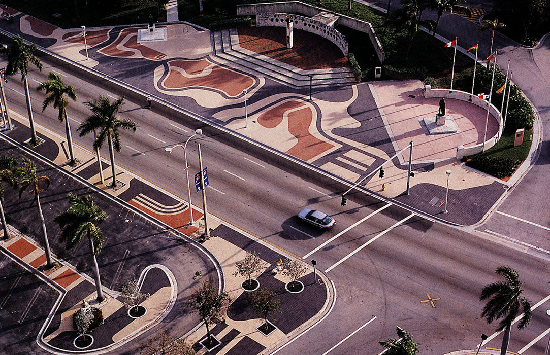 Biscayne Boulevard, Miami, designed by Roberto Burle Marx
