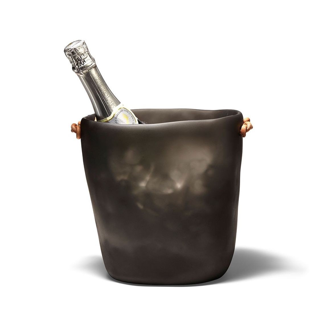 Resin champagne bucket with leather details