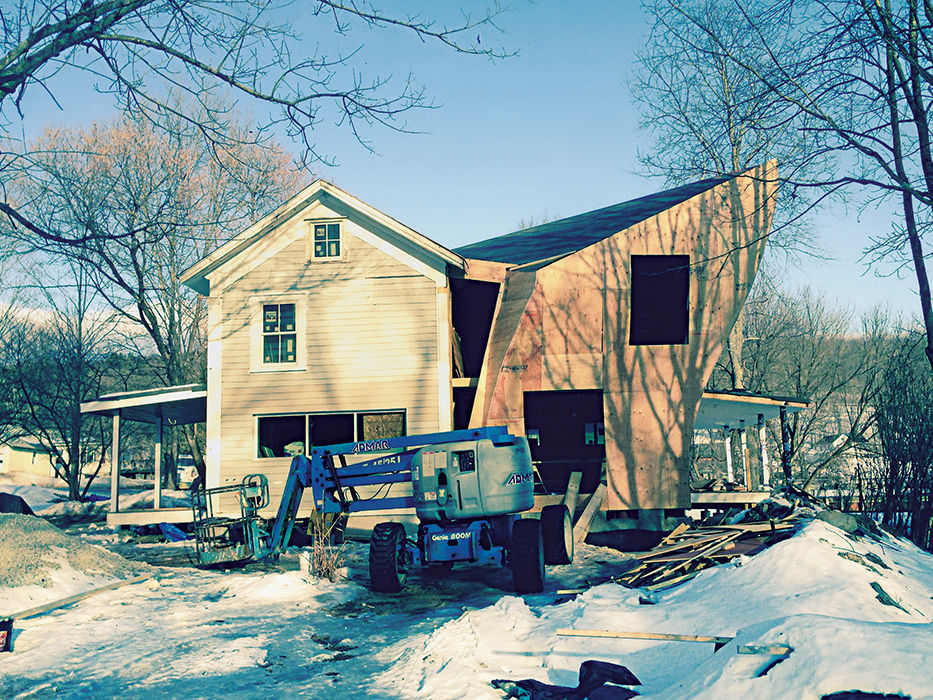 Twisted Sister farmhouse addition in process