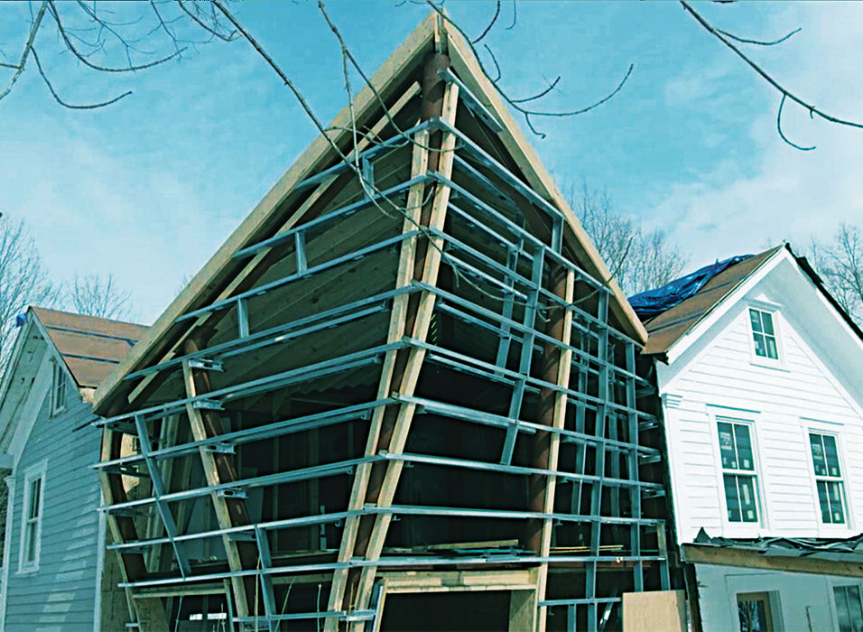 Twisted Sister farmhouse addition wood frame
