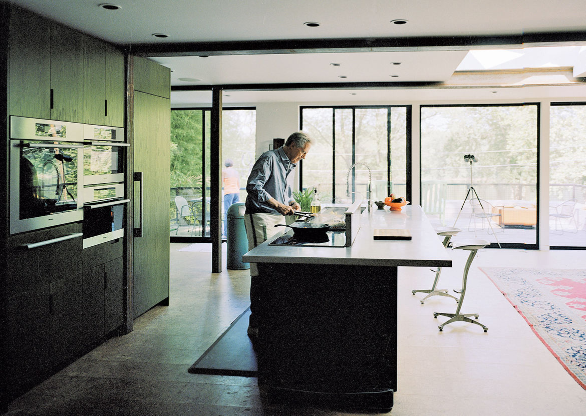 rcadia Architectural Series in kitchen of shipping container home in Pennsylvania off the Delaware River