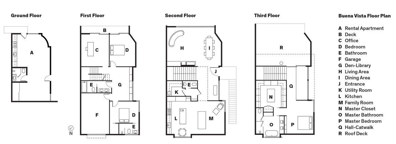 Modern renovation in San Francisco floor plans