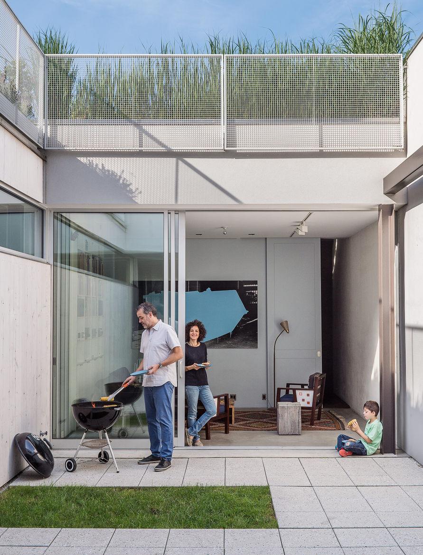 Baumann residence courtyard