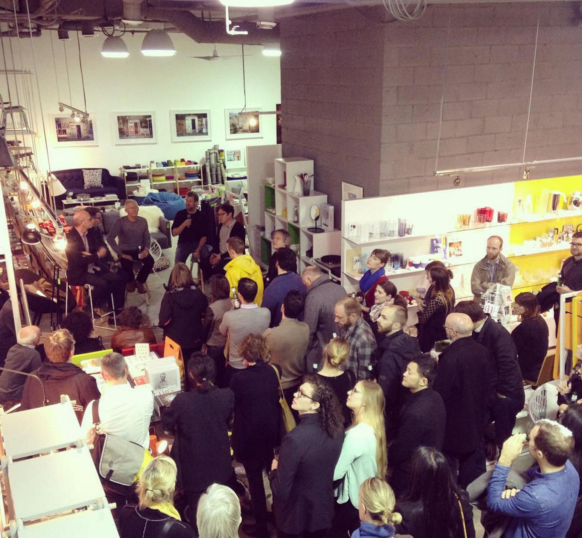 Gathering at the design store Vancouver Special.
