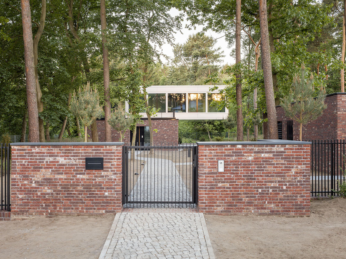 House near Potsdam with views of the surrounding forest