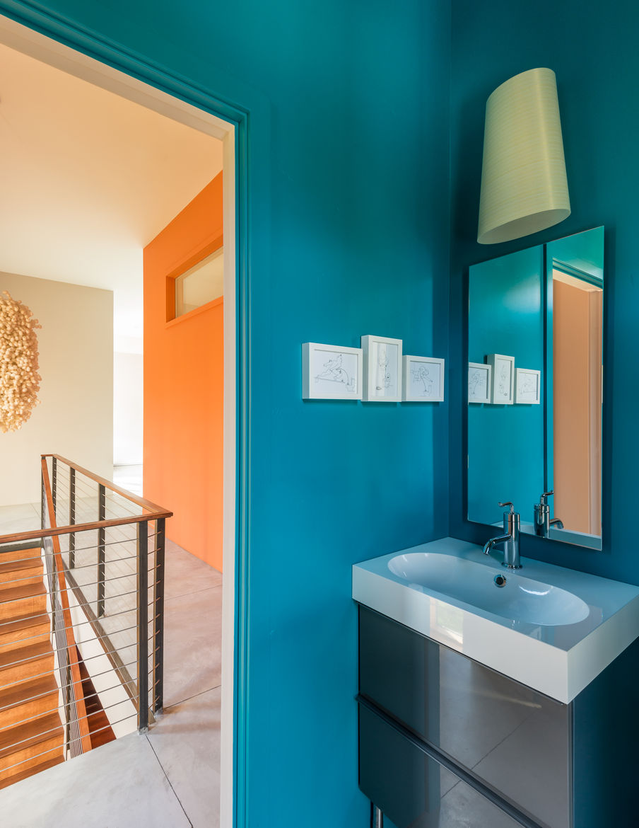 Bathroom in a Wyoming box home
