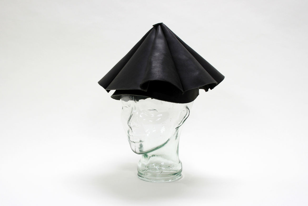 Yield Design Leather Umbrella Hat from the exhibition NYCxSkymall