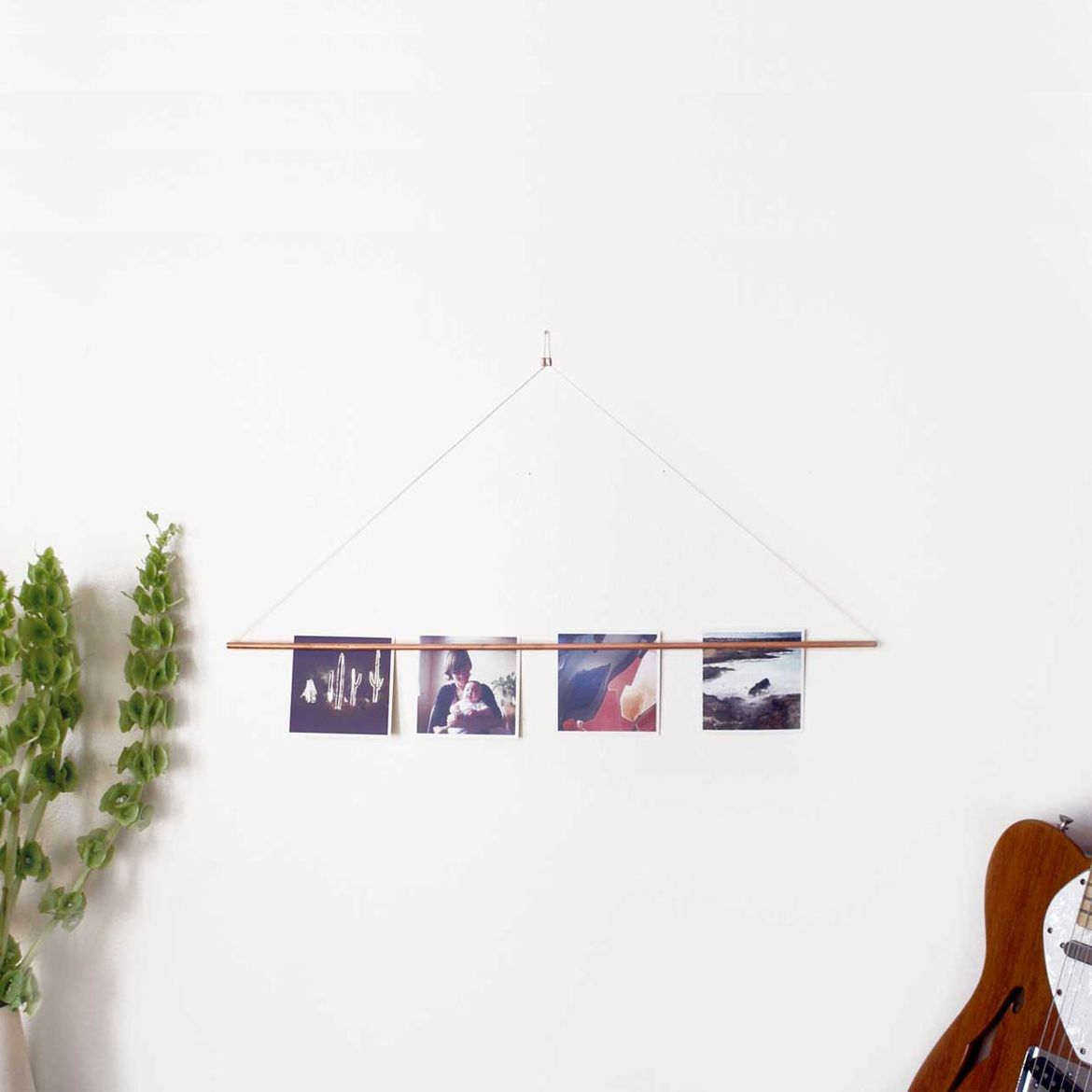 Simple copper magnetic photo bar